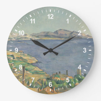 L'Estaqueから見られるマルセーユの湾 ラージ壁時計