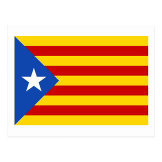 """L'Estelada Blava""のカタロニアの独立旗 ポストカード"