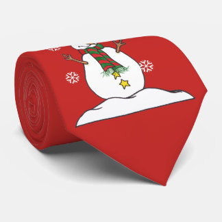 Let It Snow - Snowman - Tie ネクタイ