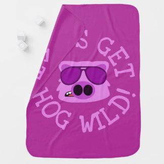 Let's Get Hog Wild ベビー ブランケット
