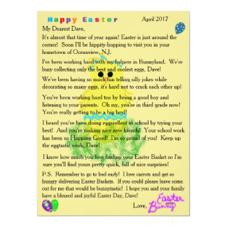 Letters from the Easter Bunny Cute Blue Chick Egg カード