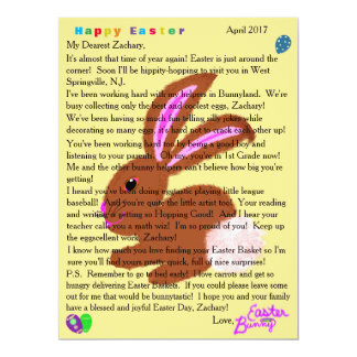 Letters from the Easter Bunny Personalization カード
