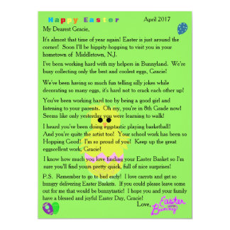 Letters from the Easter Bunny Pink Chick Egg カード