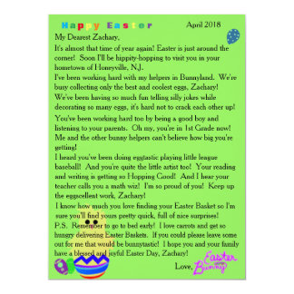 Letters from the Easter Bunny Striped Chick Egg カード