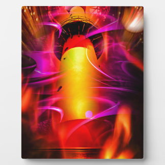 Leuchtturmromantikの灯台-花火、 フォトプラーク