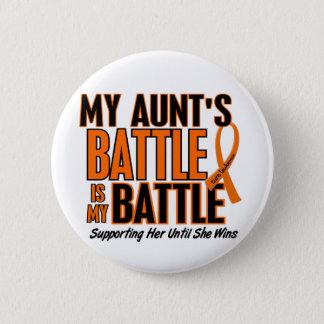 Leukemia私の余りに戦いの叔母さん 5.7cm 丸型バッジ