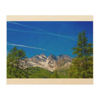 Levanne 3つの山の木製の壁の芸術の眺め ウッドウォールアート