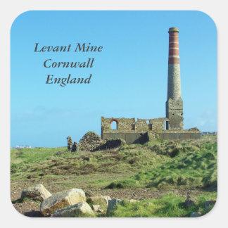 Levant鉱山のコーンウォールイギリスの写真 スクエアシール