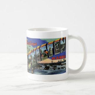 Lewistonからの挨拶私ヴィンテージの郵便はがきのマグ コーヒーマグカップ