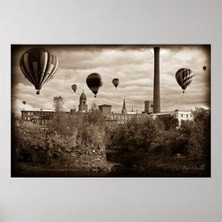 Lewistonメインの熱気の気球 ポスター