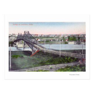 Lewiston BridgeLewiston、IDの空中写真 ポストカード