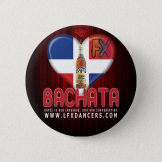 LFXのダンサーボタン叙情的なBachata FXローザBrugal 5.7cm 丸型バッジ