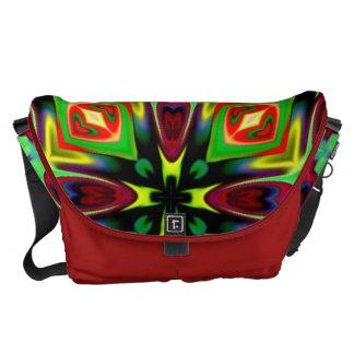 Lg. 万華鏡のように千変万化するパターンのデザインのメッセンジャーバッグ メッセンジャーバッグ