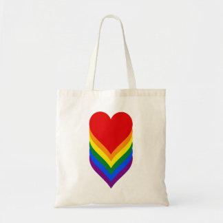 LGBTのプライドのハートの予算のトート トートバッグ