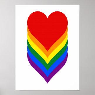 LGBTのプライドのハートポスター ポスター