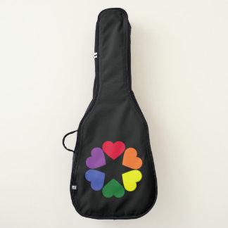 LGBTのプライドのハート ギターケース