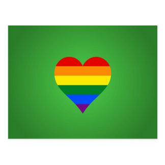 LGBTのプライドのハート ポストカード