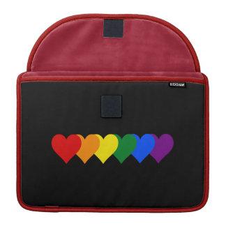 LGBTのプライドのハート MacBook PROスリーブ
