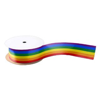 LGBTのプライドの旗のリボン サテンリボン