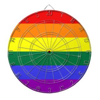 LGBTのプライドの虹の旗 ダーツボード