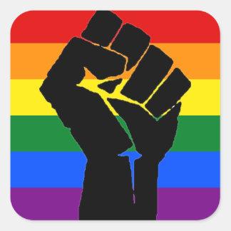 LGBTの団結のステッカー スクエアシール