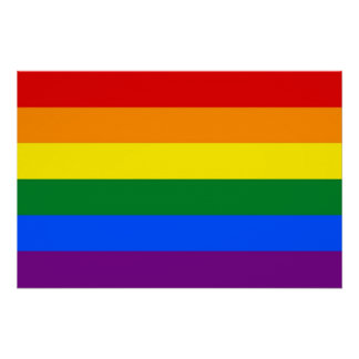 LGBTの旗が付いている愛国心が強いポスター ポスター