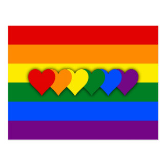 LGBTの旗の郵便はがき ポストカード