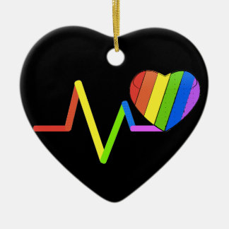 LGBTの脈拍のオーランドの捧げ物の#LoveWins セラミックオーナメント