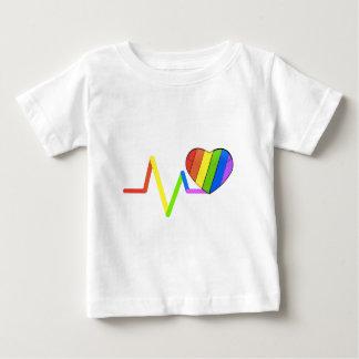 LGBTの脈拍のオーランドの捧げ物の#LoveWins ベビーTシャツ