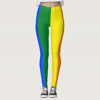 LGBTの虹のプライドの旗の縦ストライプ レギンス