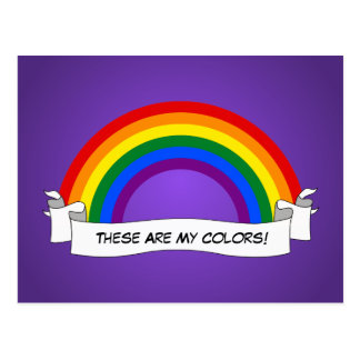 LGBTの虹のプライドの郵便はがき ポストカード