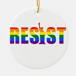 LGBTの虹の旗はゲイプライドの等しい権利に抵抗します セラミックオーナメント