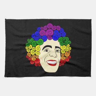 LGBTの虹の毛 キッチンタオル