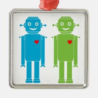 LGBTの陽気なロボット休日のオーナメント メタルオーナメント