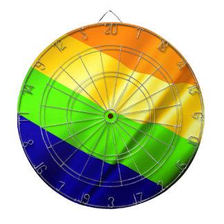 Lgbtの陽気な旗の記号のプライドの虹のレズビアン愛 ダーツボード