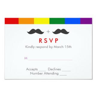 LGBTの陽気な結婚式の髭の虹 カード