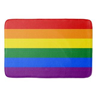 LGBTゲイプライドの6ストライプの虹の旗のカラフル バスマット