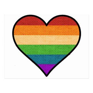 LGBT愛は愛虹のハートです ポストカード