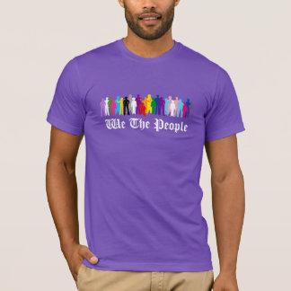 LGBT私達人々のデザインのTシャツ Tシャツ