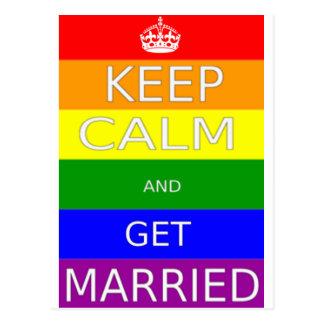 LGBT -ゲイ同志の結婚は平静を保ち、結婚します ポストカード