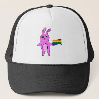 LGBTQのバニーウサギのかわいい手描き キャップ