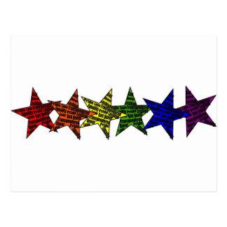 LGBTQの星のプライドの平等 ポストカード