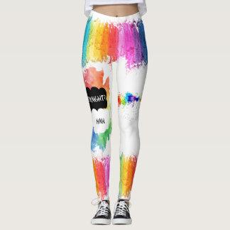 LGBTQ-プライドのレギンス-虹を絵を描いて下さい レギンス