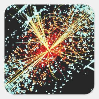 LHC衝突 正方形シールステッカー