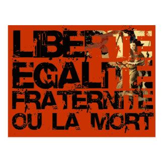 Liberte Egalite Fraternite: フランス革命 ポストカード