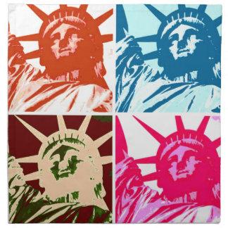 Libertyポップアートの女性 ナプキンクロス