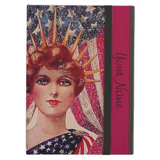 Liberty女性は7月第4あなたの文字を加えます iPad Airケース