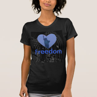Liberty Free Heart Tshirt女性自由のトーチ Tシャツ