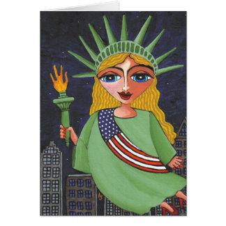 Liberty - notecard/招待飛んでいるな女性 カード