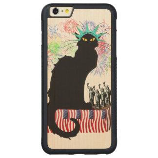 Liberty - Patriotic Le Chat Noir女性 CarvedメープルiPhone 6 Plusバンパーケース